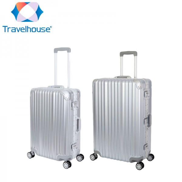 Travelhouse - London - Reisekoffer 2er Set, silber
