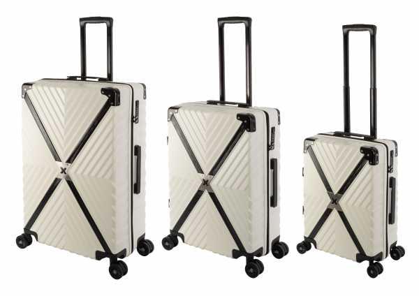 Travelhouse Miami X Zip Koffer Blau S-55cm & M-65cm & L-75cm robuste Polycarbonat Hartschale Reise Trolley Koffer Set