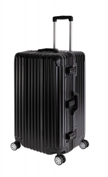 Travelhouse London Koffer Sport Schwarz - XL Alu Rahmen Polykarbonat Hartschale · Trolley Reisekoffer Reisegepäck · 2X TSA Zahlenschloss ·-Copy