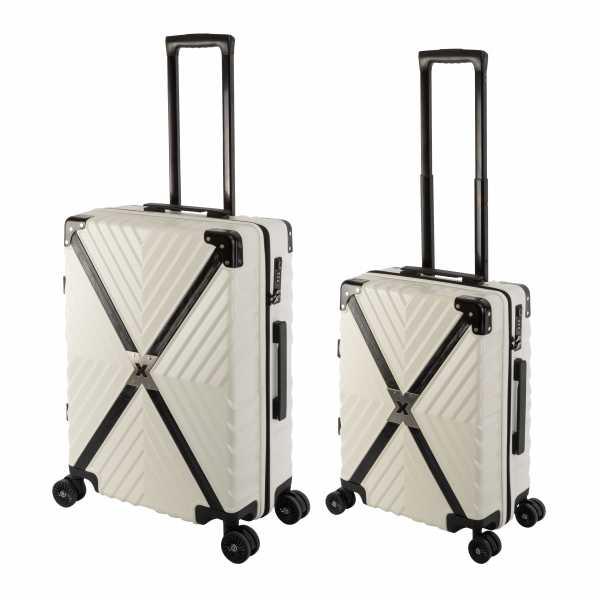 Travelhouse Miami X Zip Koffer Blau S-55cm & M-65cm robuste Polycarbonat Hartschale Reise Trolley Koffer Set