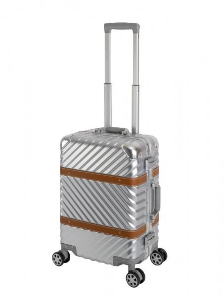 Handgepäck Koffer - Travelhouse Paris - Aluminium Rahmen - Polycarbonat Hartschale - Silber